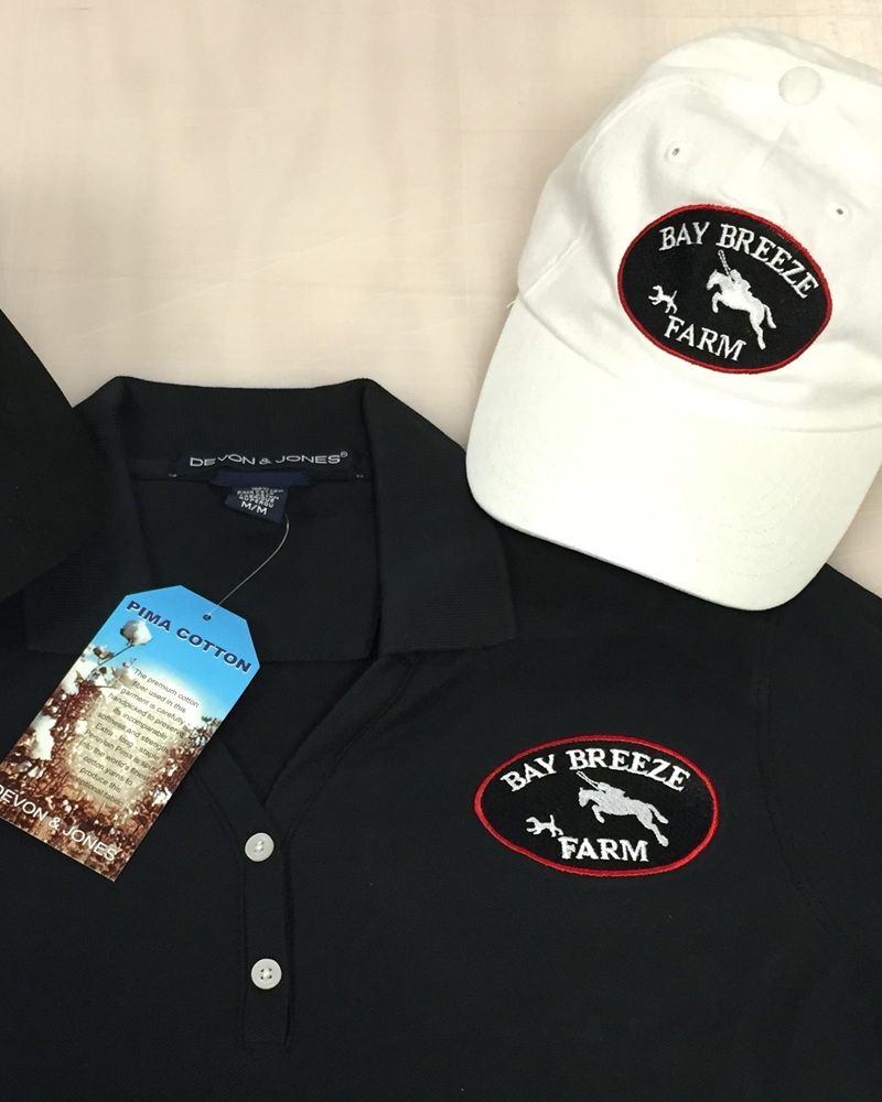 Custom embroidered Hats and shirts